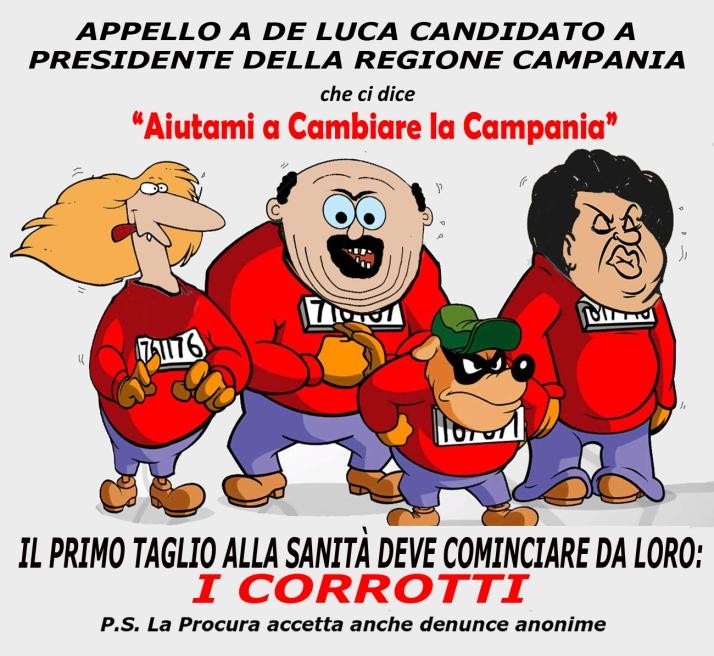 banda bassotti SANITÀ CORROTTA CAMPANIA blogs